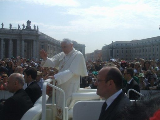 meeting the pope @ the Vatican, Summer 2007